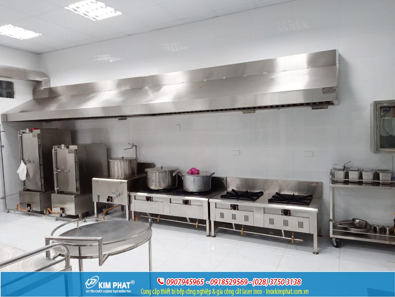khu bếp nấu chín thực phẩm