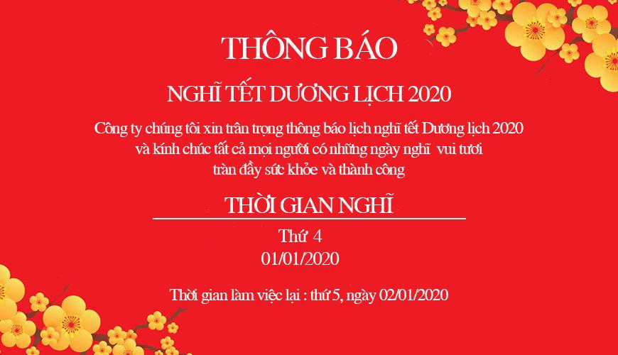 Inox Kim Phát trân trọng thông báo lịch nghĩ tết dương lịch và âm lịch 2020