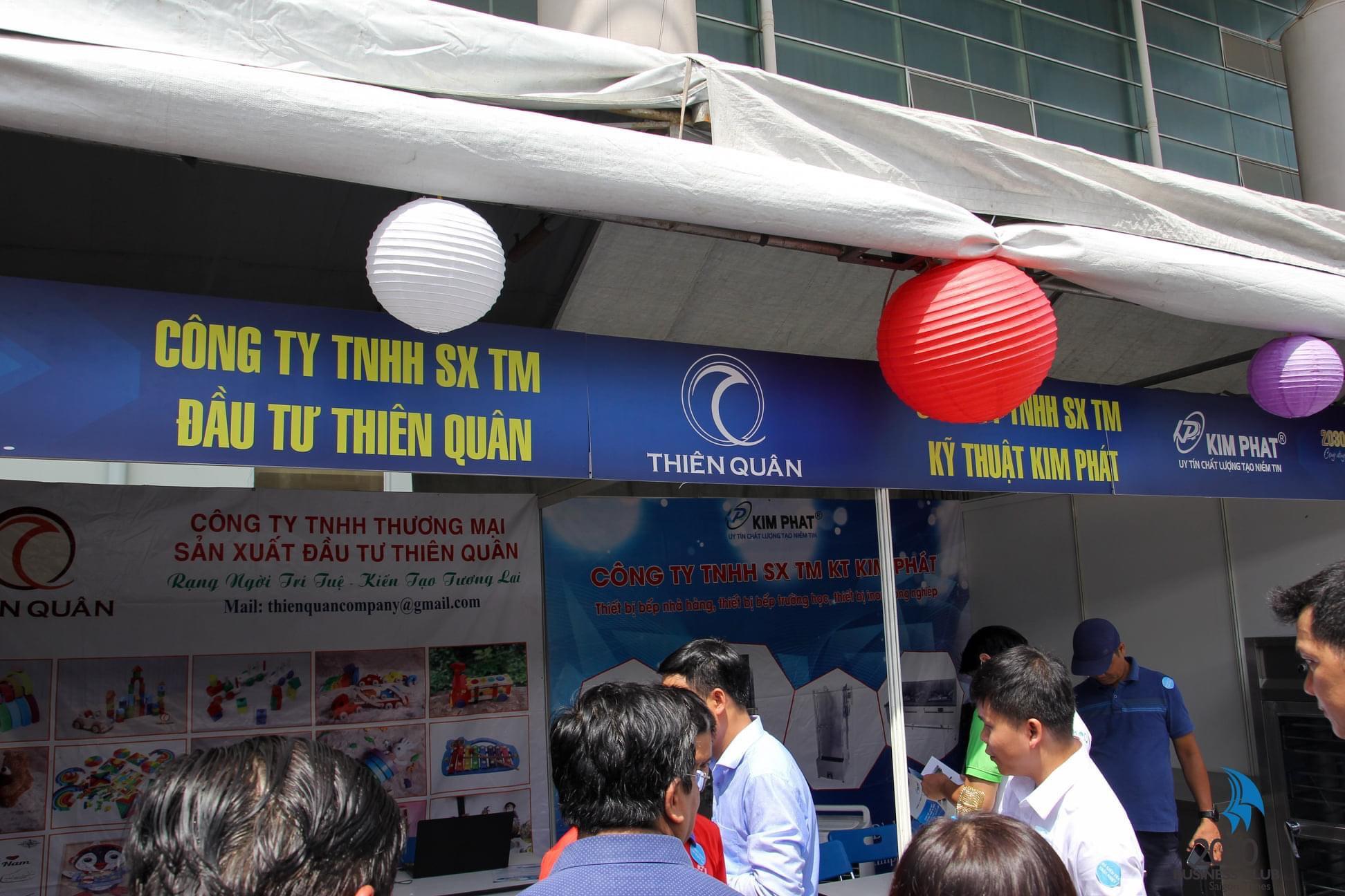 Gian hàng hội chợ tiêu dùng Inox Kim Phát & Thiên Quân